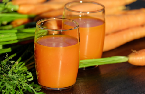 An image of fresh carrot juice
