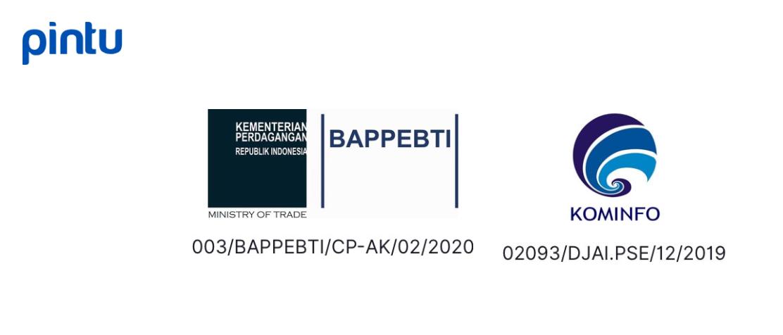 image of Pintu's BAPPEBTI and KOMINFO legal number