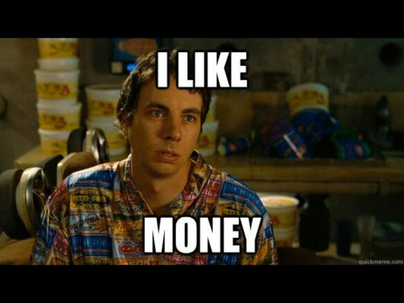 I can't believe you like money too. you should follow me