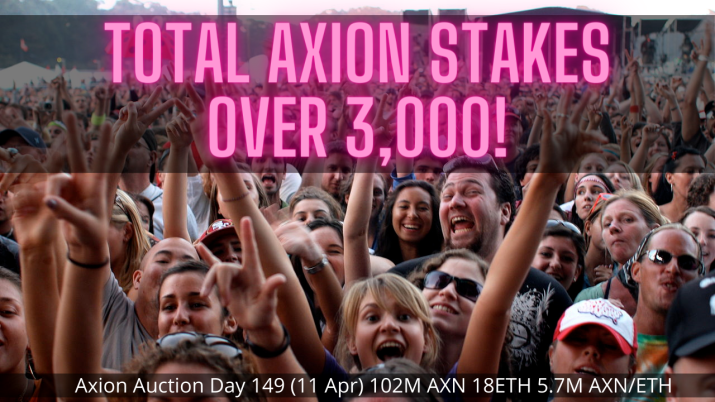 Axion crypto regular auction day 149