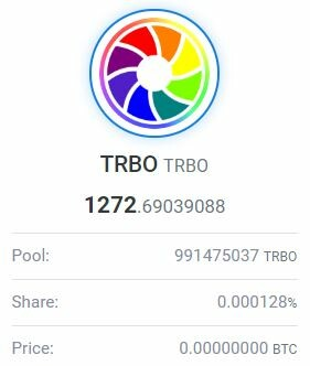 My 1,2k TRBO coins yield...