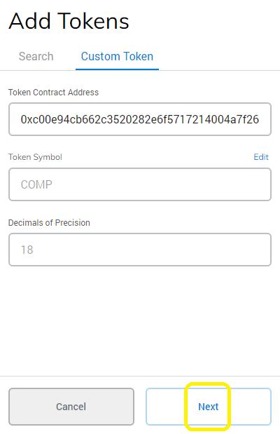 add token next