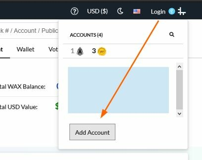 Adding Account in Bloks