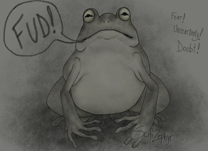 FUDding frog