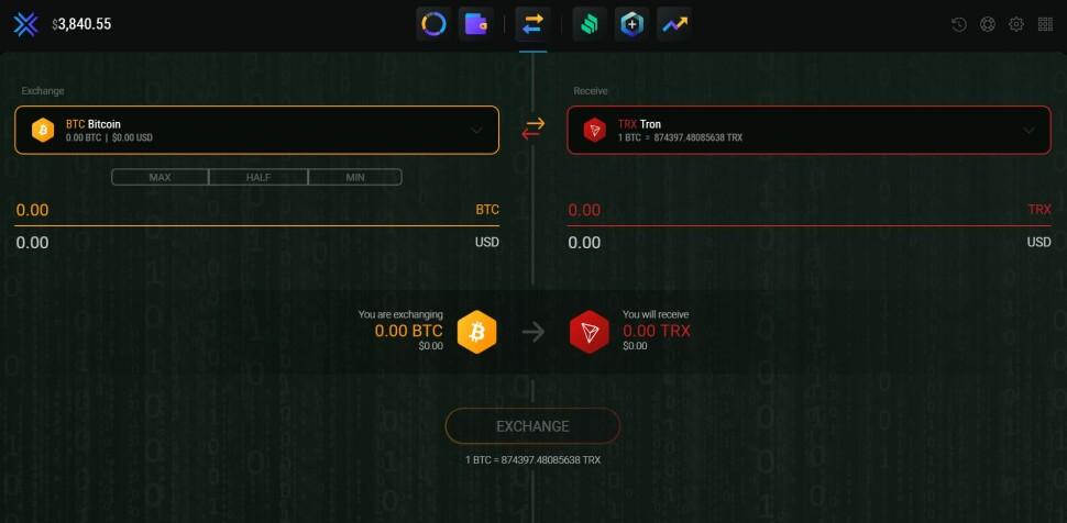 btc to trx exchange
