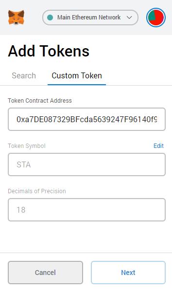 Custom Token Contract