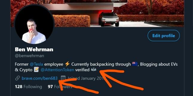 brave verified twitter