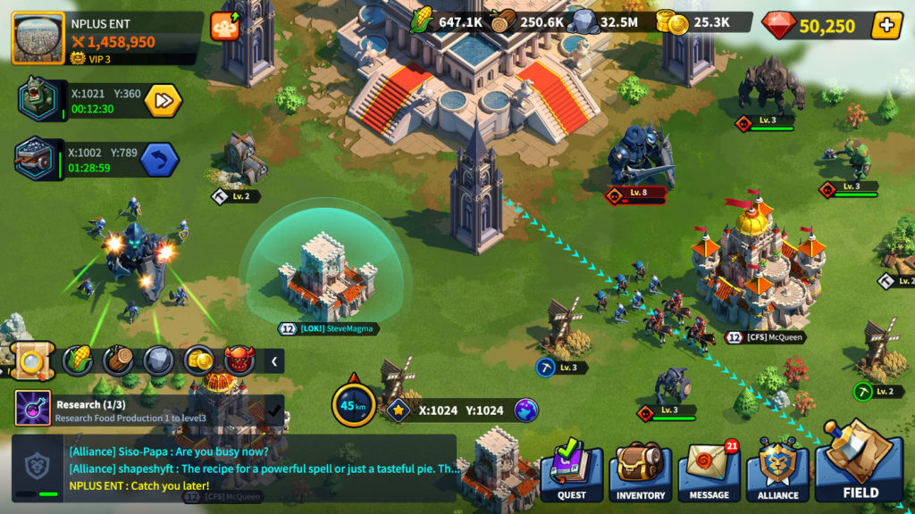 image of League of Kingdoms gameplay