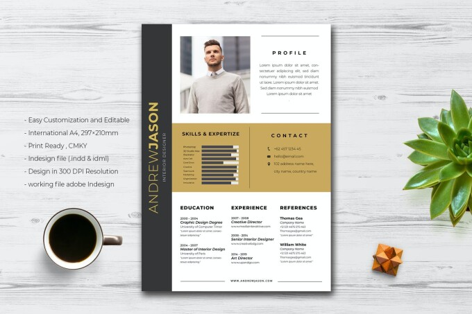 Resume Vol.9 by jiwstudio on Envato Elements