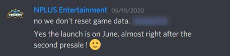 image of NPLUS Entertainment specify launch date of the game