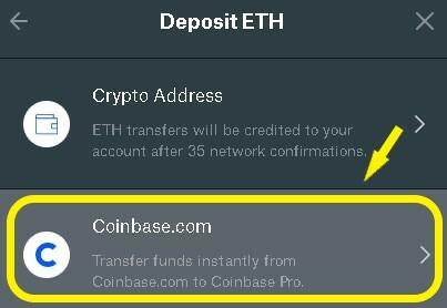 Select Coinbase