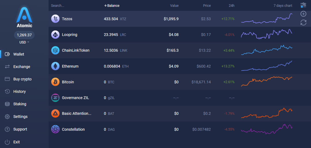 Image of my Crypto Wallet on 11-23-20