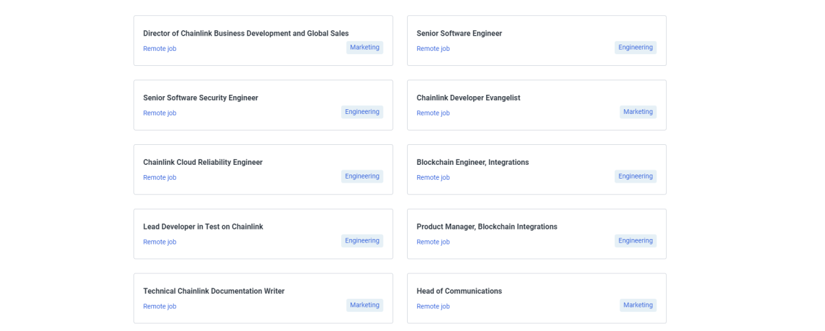Chainlink hires