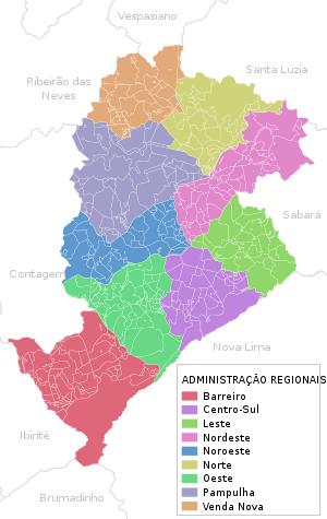 Belo Horizonte map