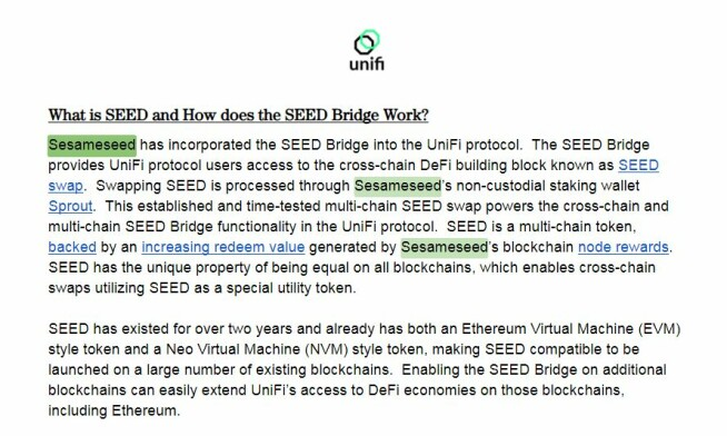 Seed Bridge Unifi Protocol