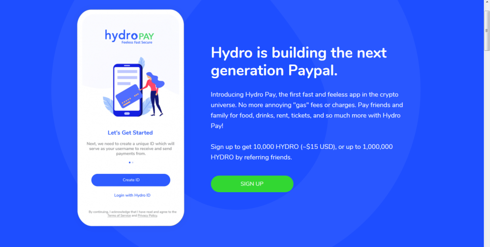 EARN 10,000- 1 MILLION HYDRO  SIGNED UP NOW FOR HYDRO PAY!