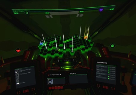 The map screen from BattleZone VR