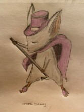 Fancy dancing mouse guard mouse - drawing in pencil and colored pencil
