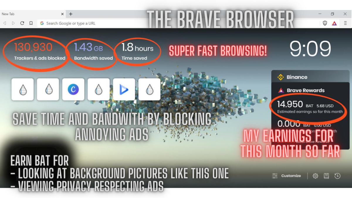 Save Time And Bandwith With The Brave Browser.