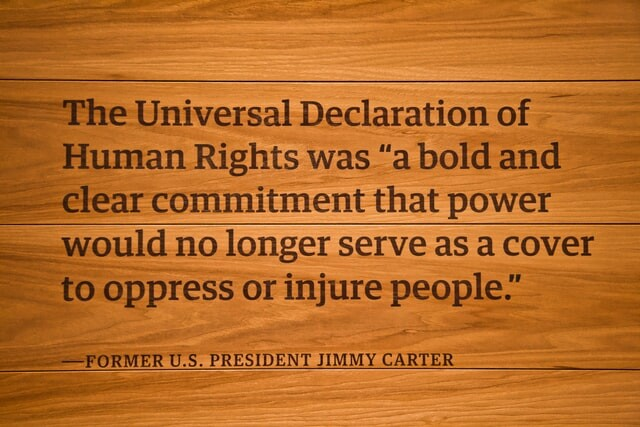 The Universal Declaration of Human Rights was