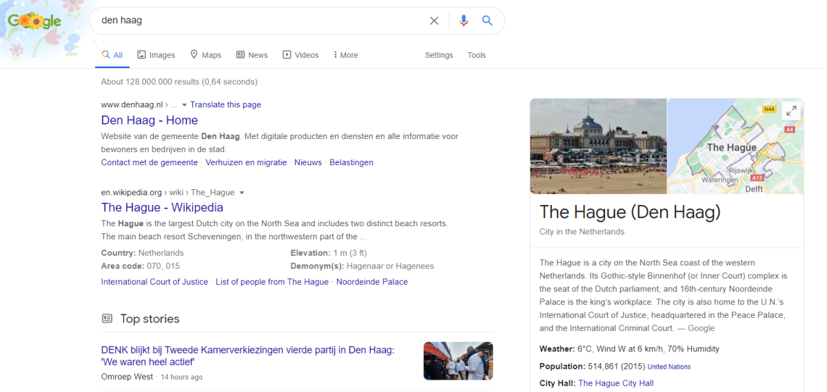 Google: Den Haag