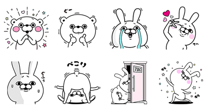 image of weird line stickers