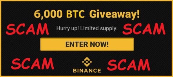Binance Dex Scammed Giveaway