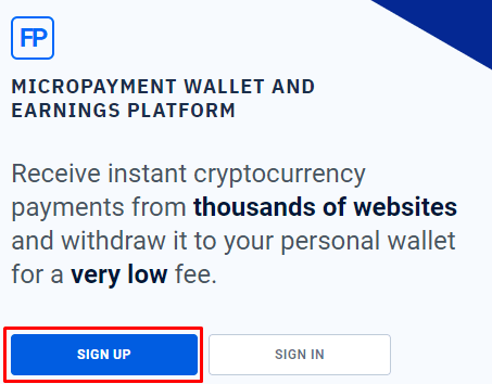 sign up faucetpay