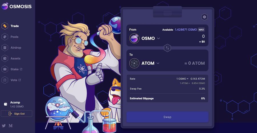 dex, defi, blockchain, osmosis, amm, cosmos