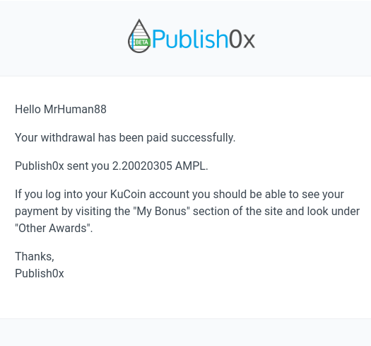 publish0x kucoin payment proof