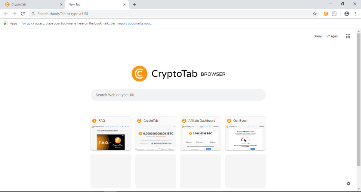 image of CryptoTab browser screencap