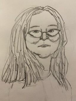 Portrait of Sandra - pencil