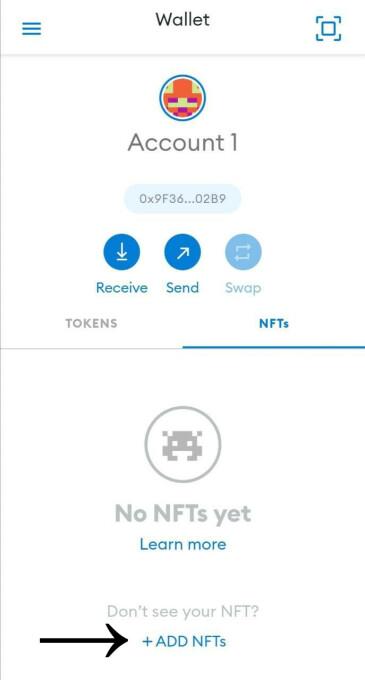 + Add NFTs
