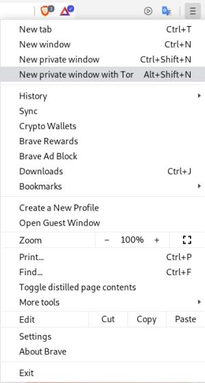 Brave Browser Tor