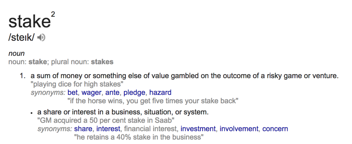 Stake definition