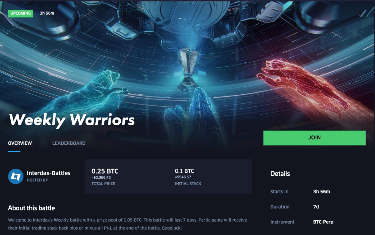 Weekly Warriors trading battle