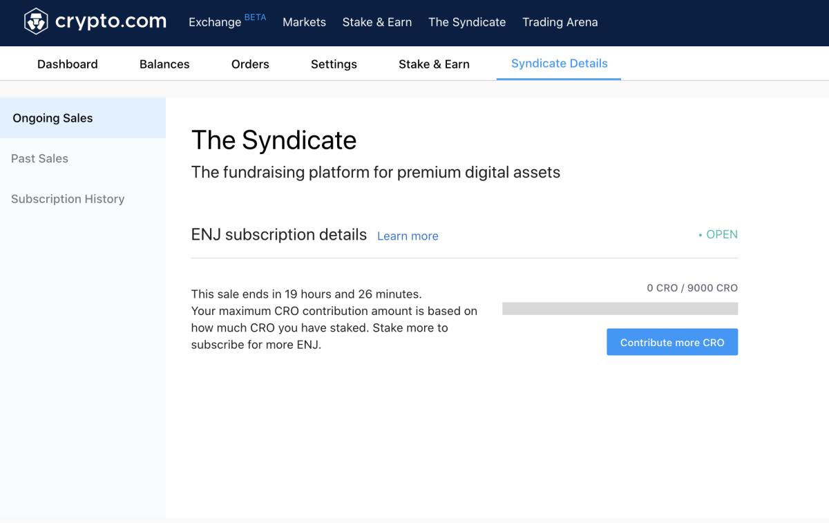 syndicate crypto.com