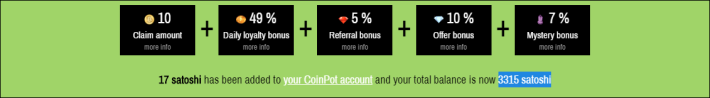 Proof of work CP Bitcoin Moon Faucet