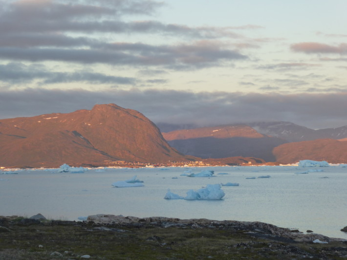 Narsaq in the evening sun