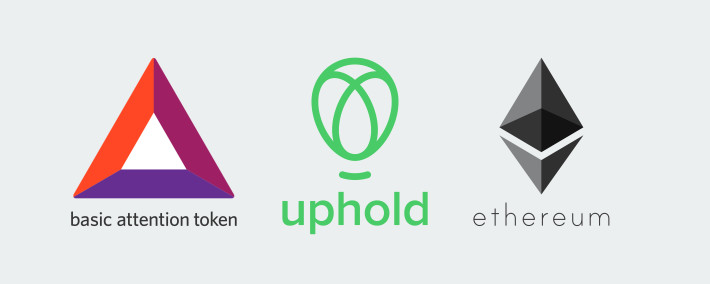 BAT, Uphold, and ETH logos