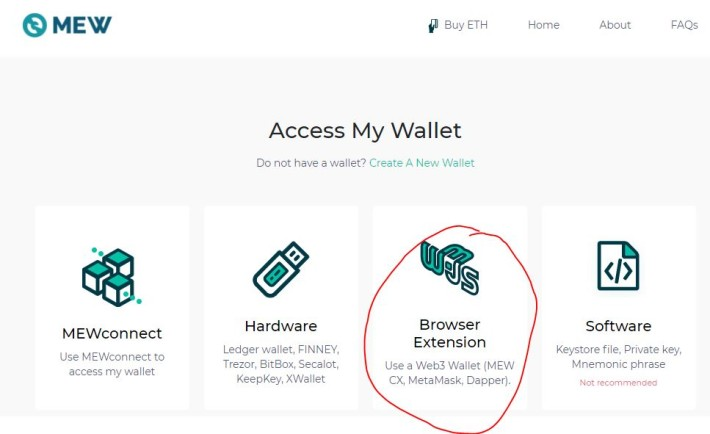 My Ether Wallet access my wallet