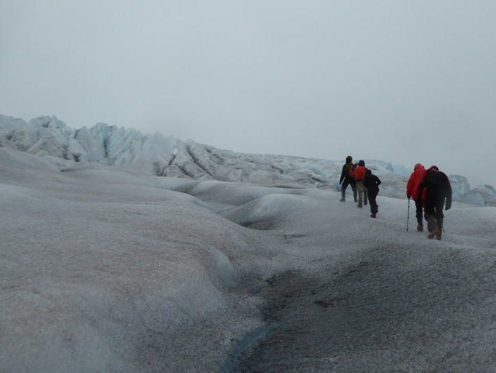 Walking on the icecap