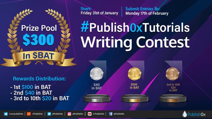 publish0x tutorials writing contest