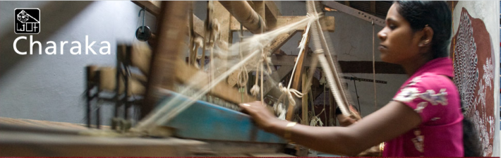 Fabrics are woven using handloom employing labour