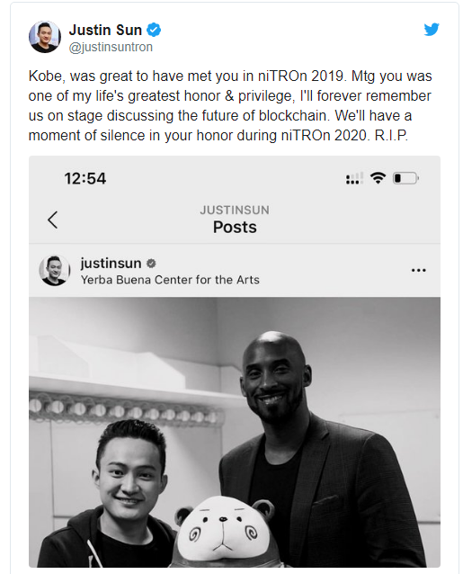kobe bryant death used to promote Tron