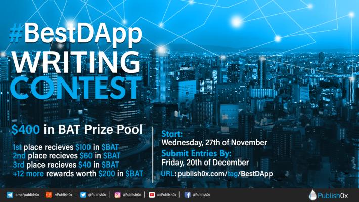 BestDApp writing contest poster