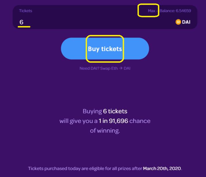 max tickets
