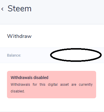 No Withdrawals warning on Bitvavo