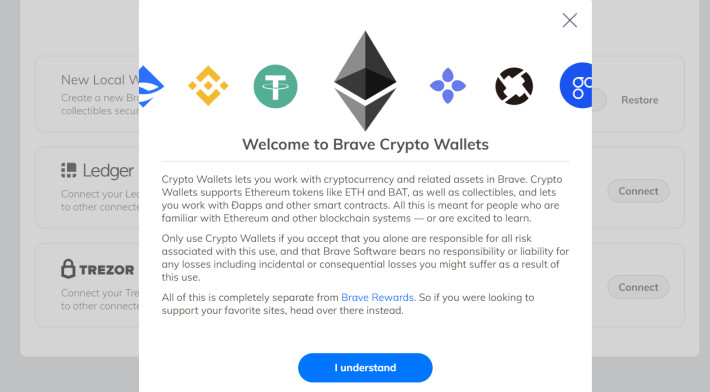 brave crypto wallet intro