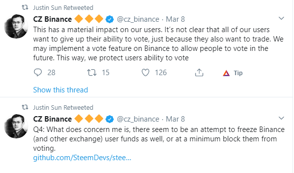 Binance CZ  tweet